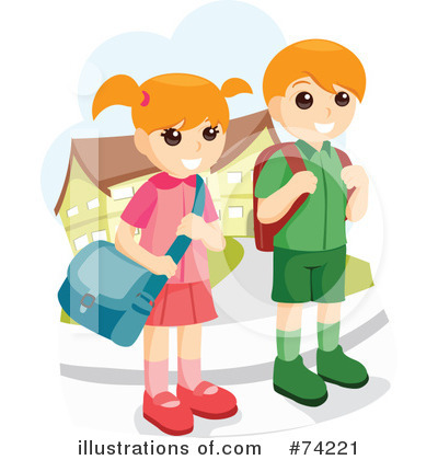 Royalty-Free (RF) Students Clipart Illustration by BNP Design Studio - Stock Sample #74221