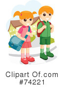 Royalty-Free (RF) Students Clipart Illustration #74221