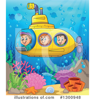 Submarine Clipart #1300948 by visekart