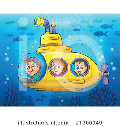 Submarine Clipart #1300949 by visekart