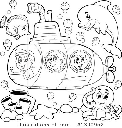Submarine Clipart #1300952 by visekart