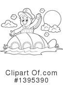 Submarine Clipart #1395390 by visekart