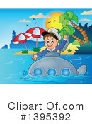 Submarine Clipart #1395392 by visekart