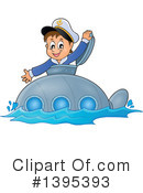 Royalty-Free (RF) Submarine Clipart Illustration #1395393