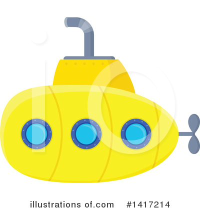 Submarine Clipart #1417214 by visekart