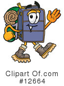 Royalty-Free (RF) Suitcase Character Clipart Illustration #12664