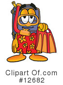 Royalty-Free (RF) suitcase character Clipart Illustration #12682