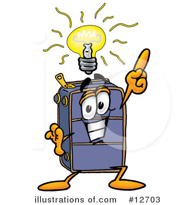 Royalty-Free (RF) Suitcase Character Clipart Illustration by Toons4Biz - Stock Sample #12703