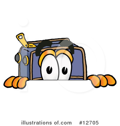 Royalty-Free (RF) Suitcase Character Clipart Illustration by Toons4Biz - Stock Sample #12705