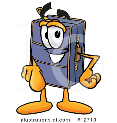Suitcase Character Clipart #12710 by Toons4Biz