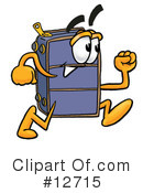 Suitcase Character Clipart #12715 by Toons4Biz