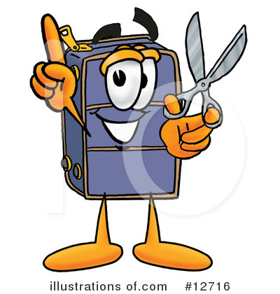 Suitcase Character Clipart #12716 by Toons4Biz