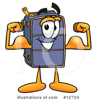 Suitcase Character Clipart #12724 by Toons4Biz