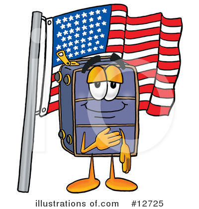 Suitcase Character Clipart #12725 by Toons4Biz