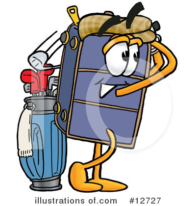 Suitcase Character Clipart #12727 by Toons4Biz