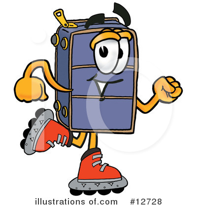 Suitcase Character Clipart #12728 by Toons4Biz