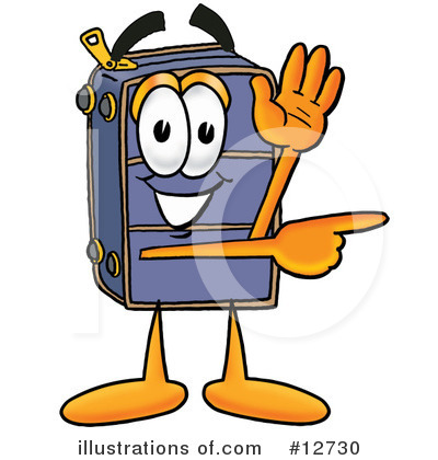 Suitcase Character Clipart #12730 by Toons4Biz