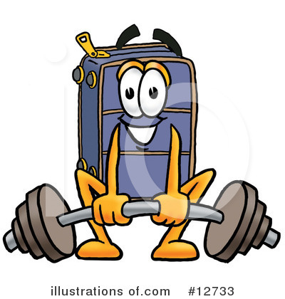 Suitcase Character Clipart #12733 by Toons4Biz