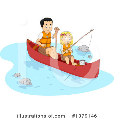Canoe Clipart #1079146 by BNP Design Studio