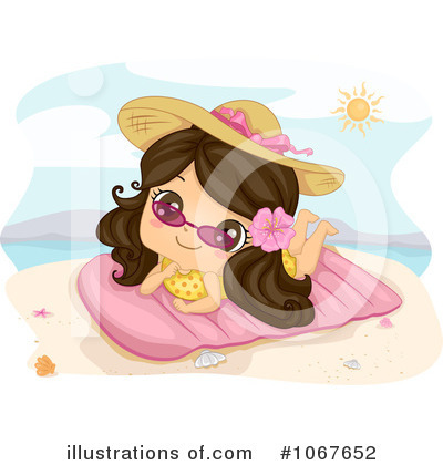 Sun Bathing Clipart #1067652 by BNP Design Studio