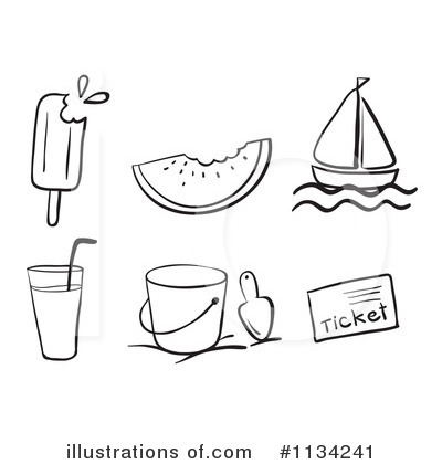 Summer Clipart #1134241 - Illustration by Graphics RF