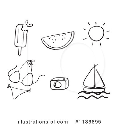 Summer Items Clipart #1136895 - Illustration by Graphics RF