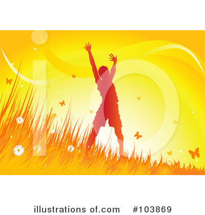 Royalty-Free (RF) Summer Time Clipart Illustration by Pushkin - Stock Sample #103869