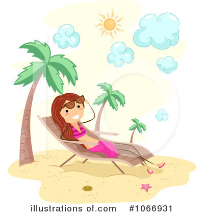Sun Bathing Clipart #1066931 by BNP Design Studio