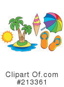 Royalty-Free (RF) Summer Time Clipart Illustration #213361