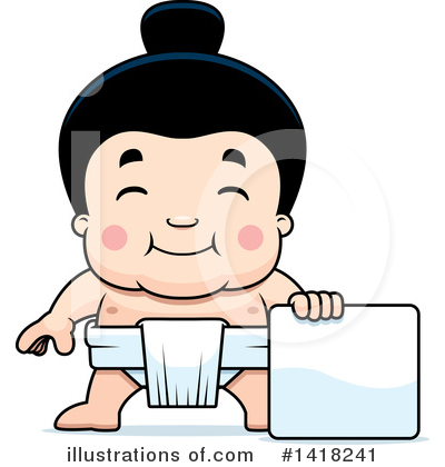 Sumo Wrestler Clipart #1418241 by Cory Thoman