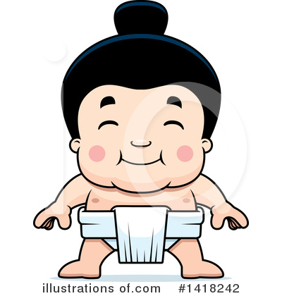 Sumo Wrestler Clipart #1418242 by Cory Thoman