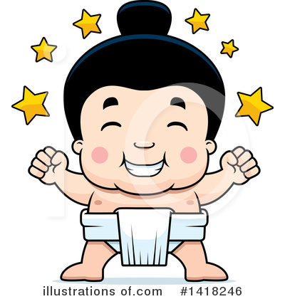 Sumo Wrestler Clipart #1418246 by Cory Thoman