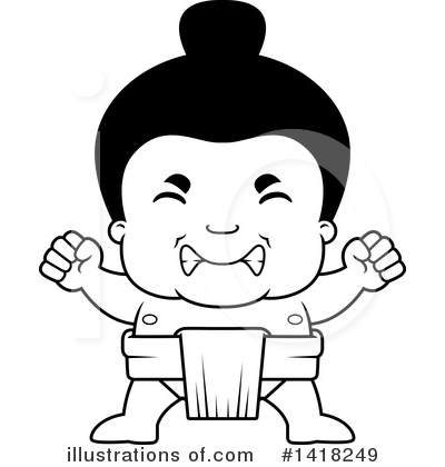 Sumo Wrestler Clipart #1418249 by Cory Thoman