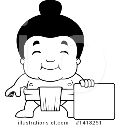 Sumo Wrestler Clipart #1418251 by Cory Thoman