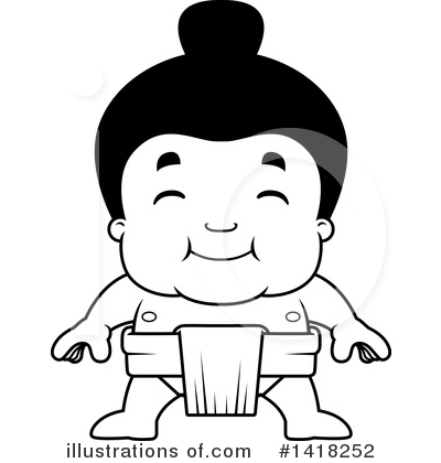 Sumo Wrestler Clipart #1418252 by Cory Thoman