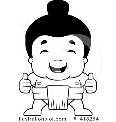 Sumo Wrestler Clipart #1418254 by Cory Thoman