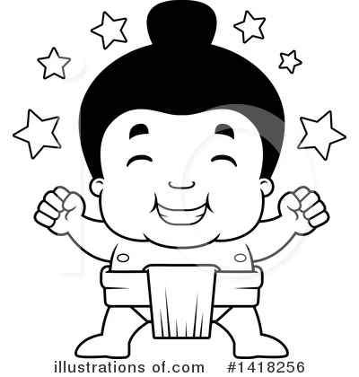 Sumo Wrestler Clipart #1418256 by Cory Thoman