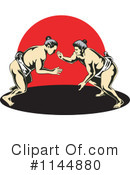 Royalty-Free (RF) sumo wrestling Clipart Illustration #1144880