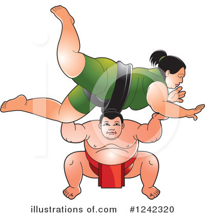 Sumo Wrestler Clipart #1242320 by Lal Perera