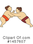 Royalty-Free (RF) Sumo Wrestling Clipart Illustration #1457607