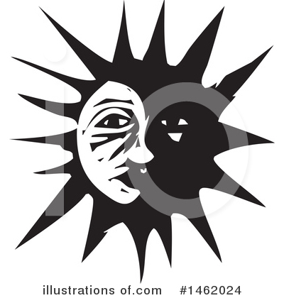 Sun And Moon Clipart #1462024 by xunantunich