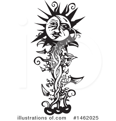 Sun And Moon Clipart #1462025 by xunantunich