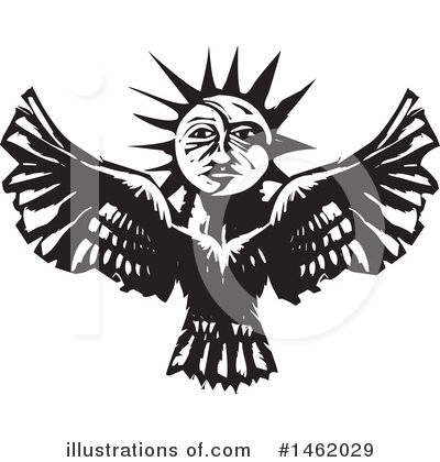 Royalty-Free (RF) Sun And Moon Clipart Illustration by xunantunich - Stock Sample #1462029