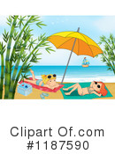 Sun Bathing Clipart #1187590 by Graphics RF