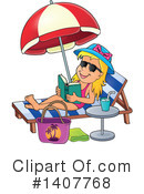 Sun Bathing Clipart #1407768