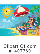 Sun Bathing Clipart #1407769