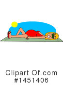 Sun Bathing Clipart #1451406 by djart