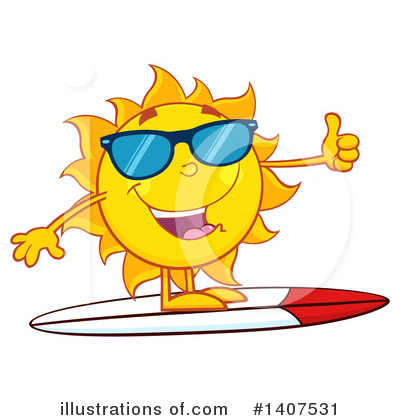 Sun Clipart #1407531 by Hit Toon