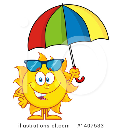 Sun Character Clipart #1407533 by Hit Toon