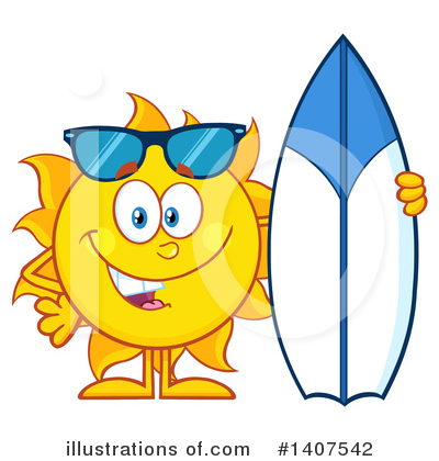 Sun Character Clipart #1407542 by Hit Toon